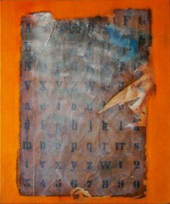 Alpha y Beta · 2010 - Técnica mixta sobre lienzo, 60 x 73 cm