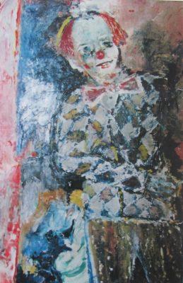 Ansichten eines Clowns · 1998 - Óleo sobre papel, 50 x 80 cm