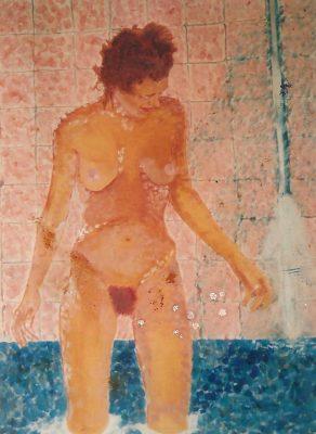 Cathy · 1985 - Óleo sobre papel, 70 x 90 cm