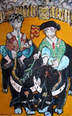Confrontación · 2011 - Óleo sobre cartón, 70 x 90