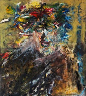 Elle adore le noire · 2016/2020 - Óleo sobre lienzo, 70 x 80 cm