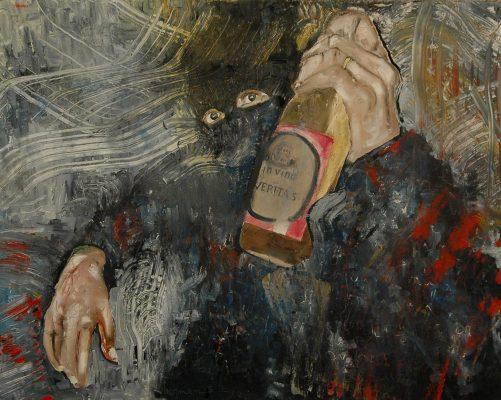 In vino veritas · 2006 - Óleo sobre lienzo, 100 x 120 cm