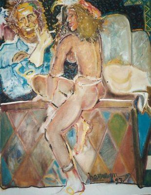 Keith · 1993 - Óleo sobre lienzo, 50 x 90 cm
