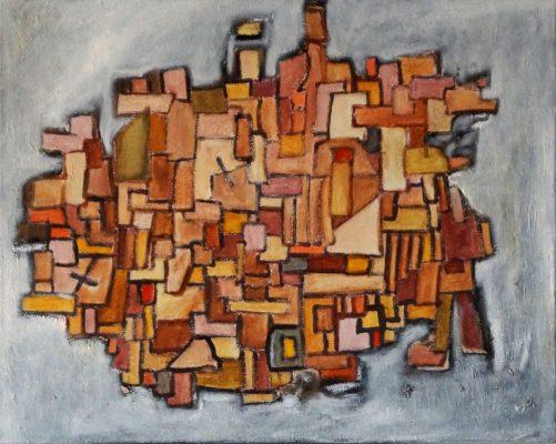 La Ciudad · 2014 - Óleo sobre lienzo, 73 x 60 cm