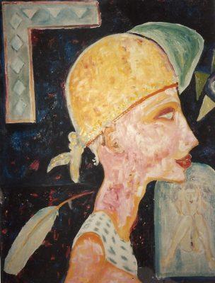 La plume · 1988 - Óleo sobre lienzo, 50 x 70 cm