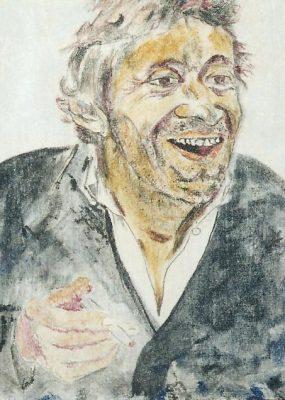 Le beau Serge · 1991 - Óleo sobre lienzo, 30 x 40 cm