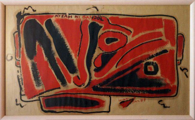 Ni fam ni banjol · 1987 - Acrílico y óleo sobre papel, 70 x 100 cm