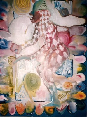 Payaso · 1992 - Óleo sobre lienzo, 120 x 170 cm