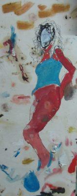 Study · 1989 - Técnica mixta, 10 x 20 cm