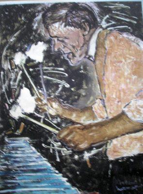 Vibes · 2000 - Óleo y acrílico sobre papel, 50 x 70 cm