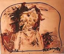 La garcia · 1986 - Óleo sobre papel, 40 x 60 cm